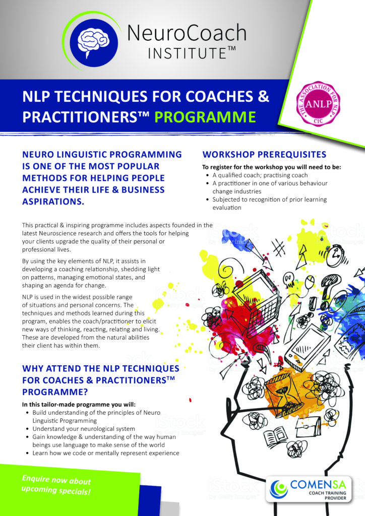 Nlp Techniques For Coaches And Practitioners Offerd In Sa