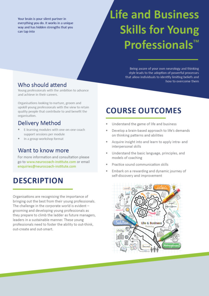 Life business skills for young professionals offered